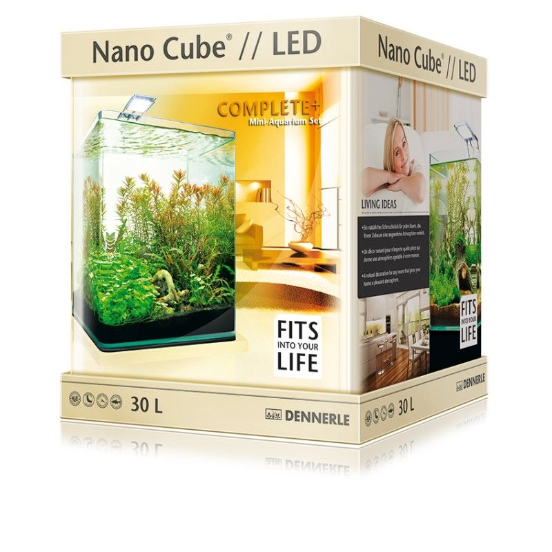 Dennerle nano cube 30l complete plus led for Aquarium nano cube