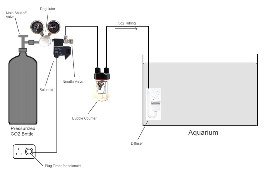 Co2 aquarium set