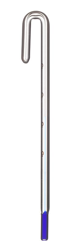 Blau Hang on Glass Thermometer 6mm